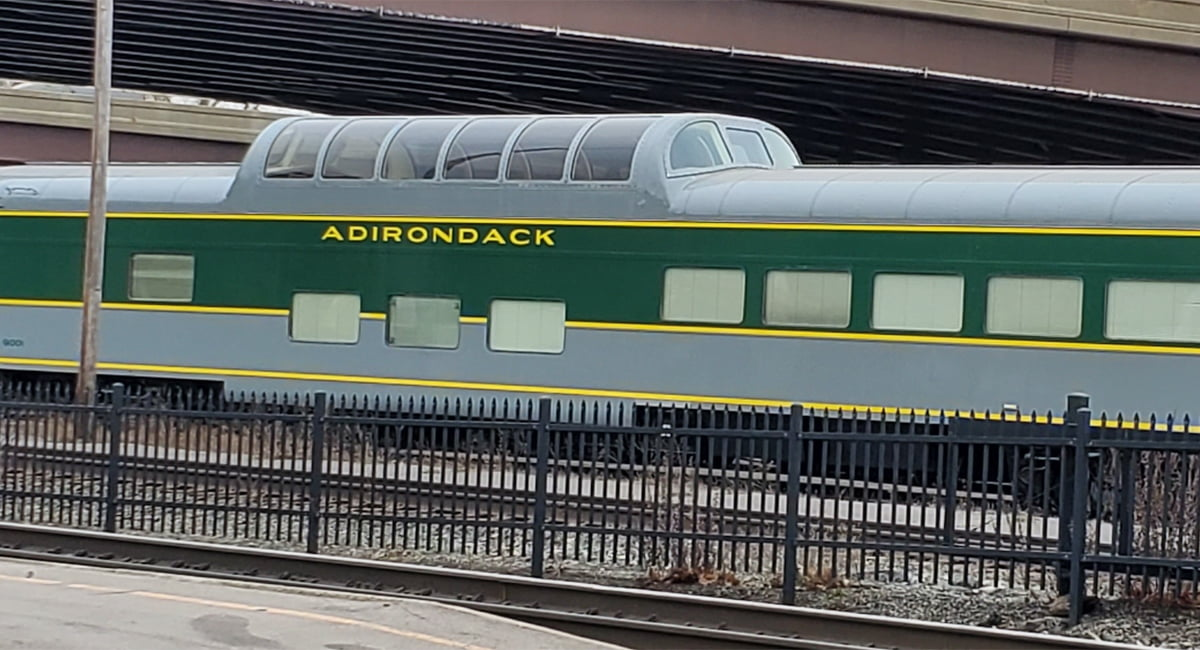 Adirondack Scenic Railroad Dome Car in Utica, NY.