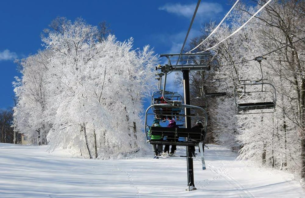 Take the lift to the top for amazing views and 1200' of vertical. | Photo from Bristol Mountain