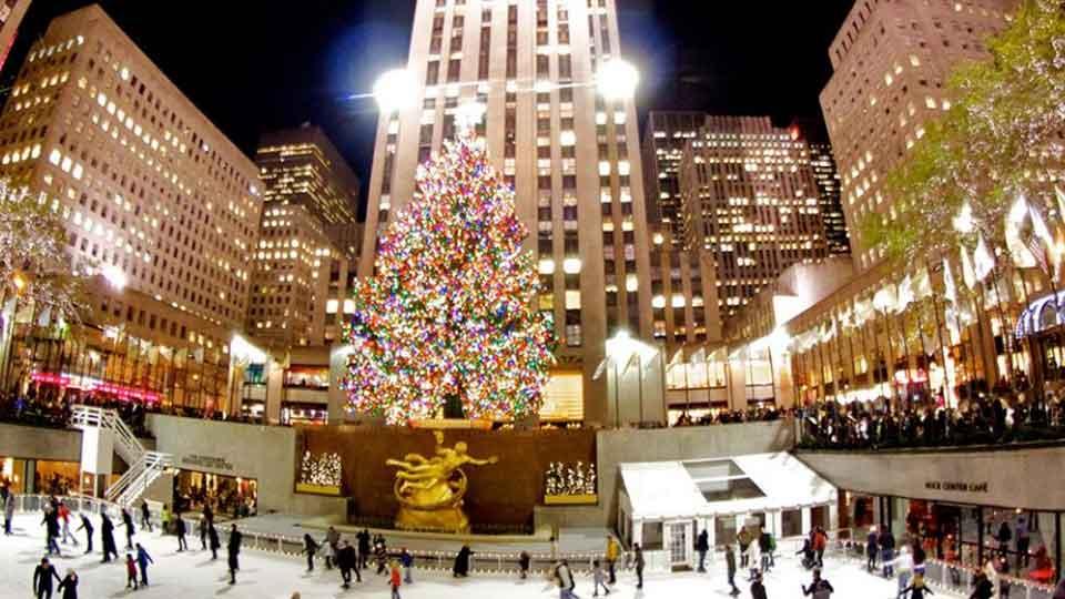 Ice Skating Rink At Rockefeller Center New York City New York By Rail