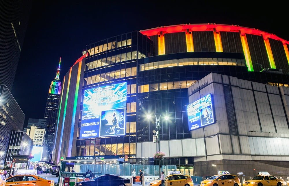 Madison Square Garden New York City New York By Rail