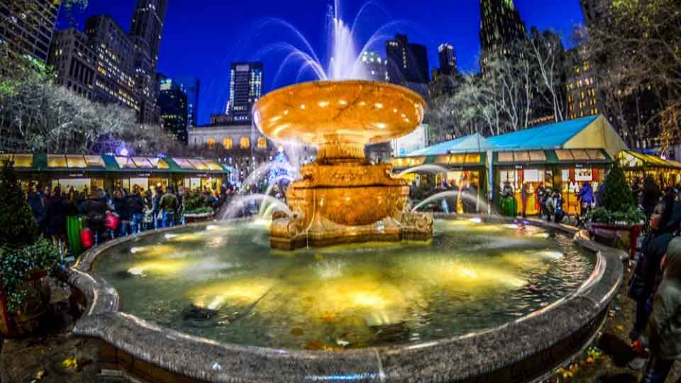 Winter Village At Bryant Park New York City New York By Rail