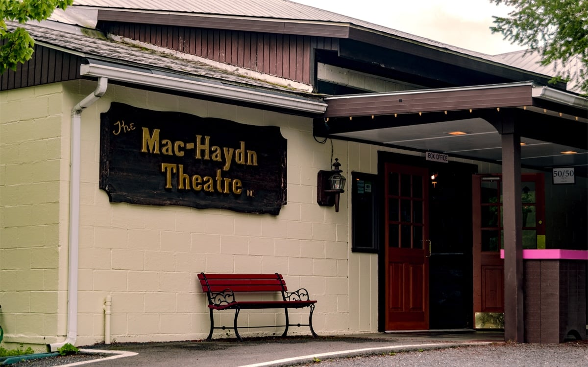 Mac-Haydn Theatre, Columbia County's charming off-broadway performance center open since 1969. | Photo by Andrew Frey