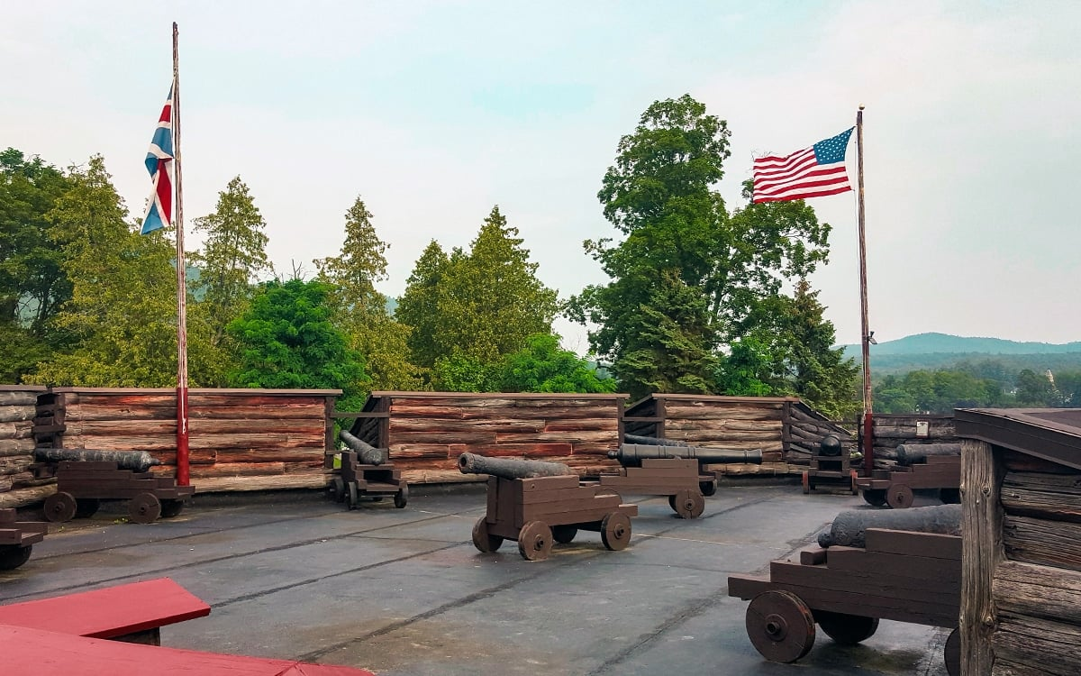 So many cannons! A view from atop Fort William Henry. | Photo by Salvatore Isola