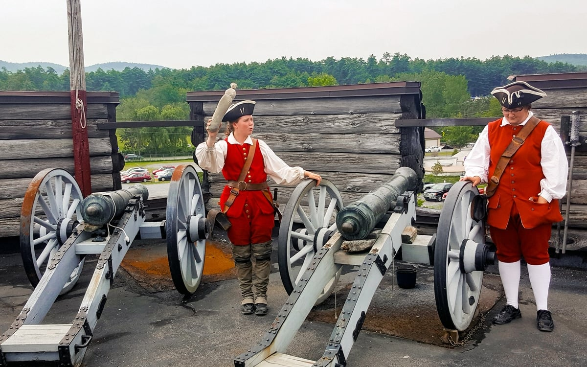 Fire the cannons! A demonstration at Fort William Henry. | Photo by Salvatore Isola