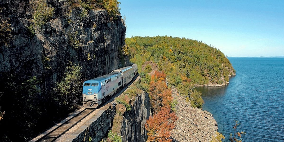 The Great Dome Car on Amtrak's Adirondack line, riding from Albany-Rensselaer to Montrèal. | Photo from Amtrak