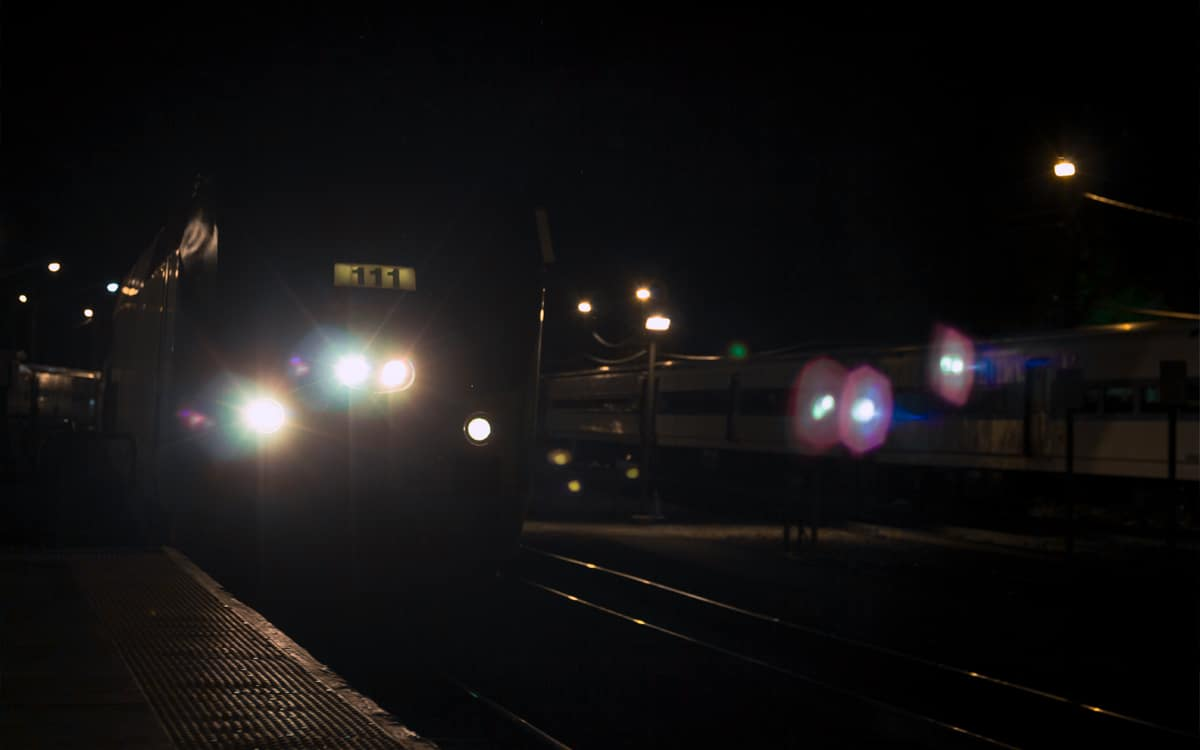 The Maple Leaf Amtrak train arriving at Poughkeepsie station on its journey south. | Photo by Andrew Frey