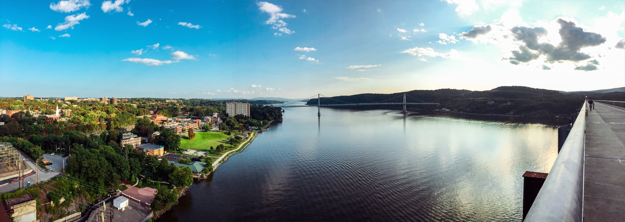 A view of Poughkeepsie, Mid-Hudson Bridge and Highland from Walkway Over the Hudson. | Photo by Andrew Frey