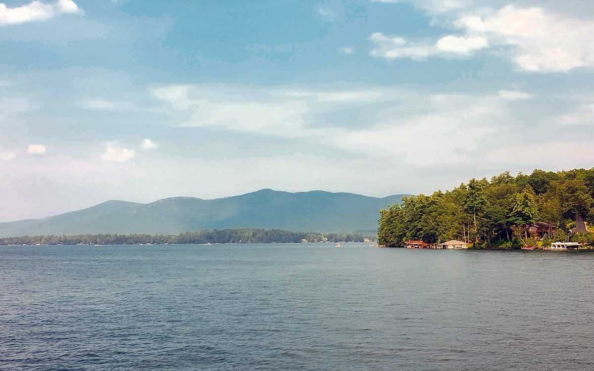 A view of the lake and mountains aboard the Minne-Ha-Haon Lake George. | Photo By Salvatore Isola