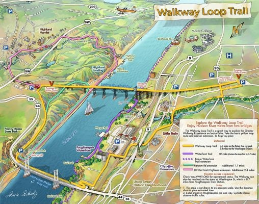 The new 4.4-mile Walkway Loop Trail. | Photo from Walkway Over the Hudson