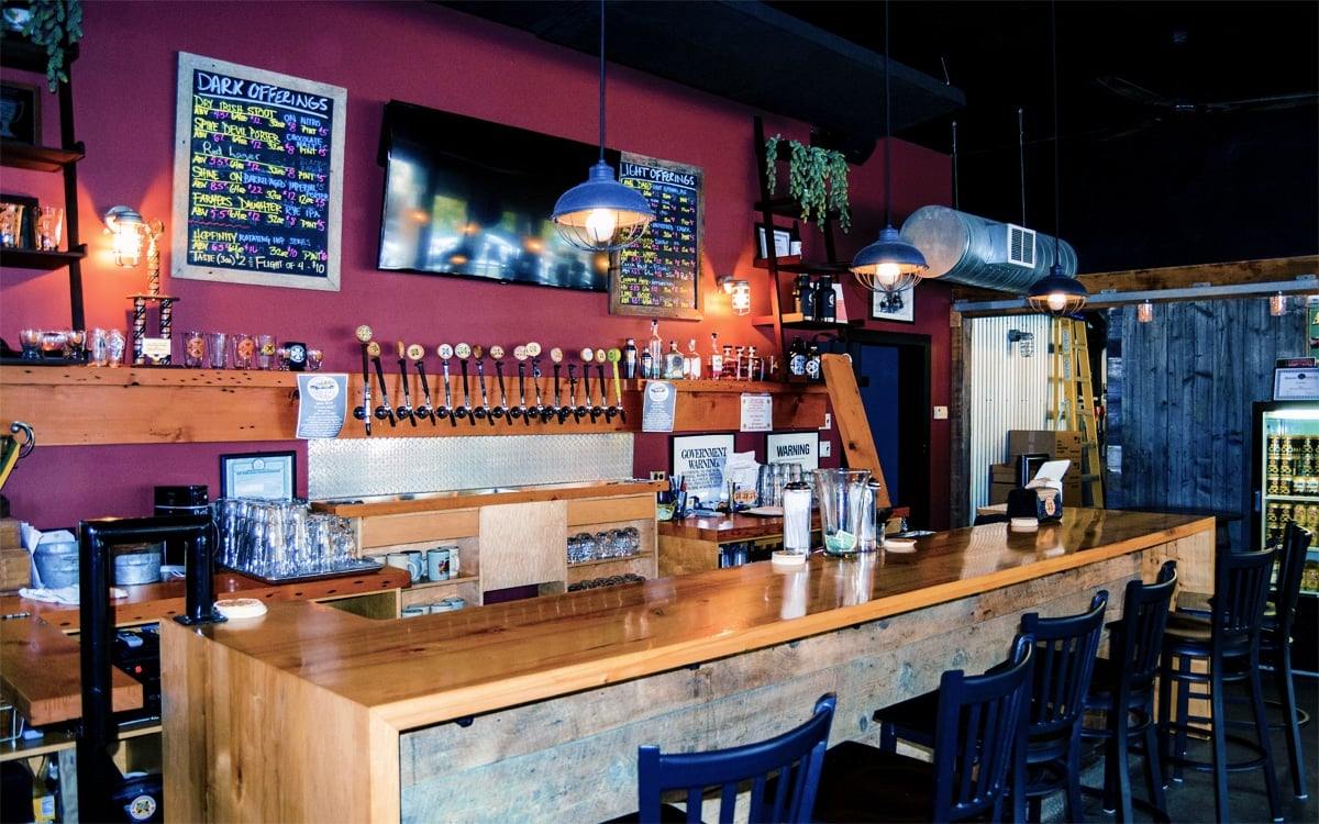 The bar and tasting room at Chatham Brewing Co. in Columbia County. I'll take a pint, please! | Photo by Andrew Frey