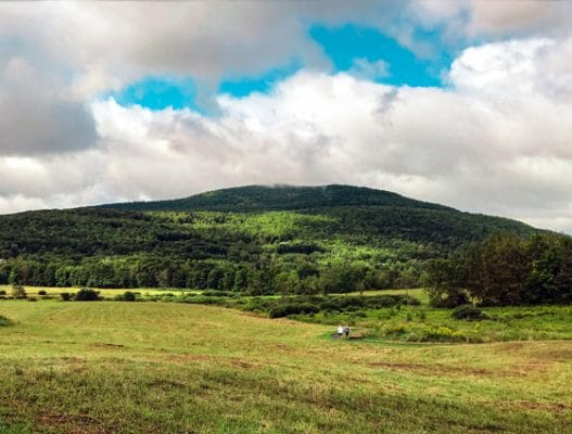 A breathtaking landscape of the surrounding Catskill mountains along the Windham Path in the Great Northern Catskills. | Photo by Lauren Sandford