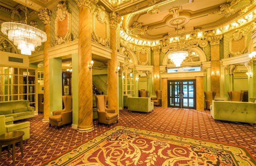 The Hotel Wolcott lobby.