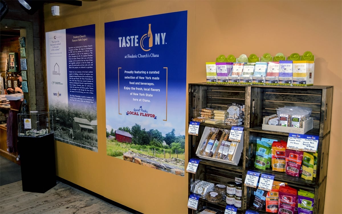 The Taste NY display, a new partner of Olana State Historic Site. Find the display in the Olana gift shop. | Photo by Andrew Frey