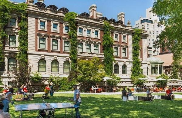 The Arthur Ross Terrace and Garden at the Cooper Hewitt Smithsonian Design Museum.