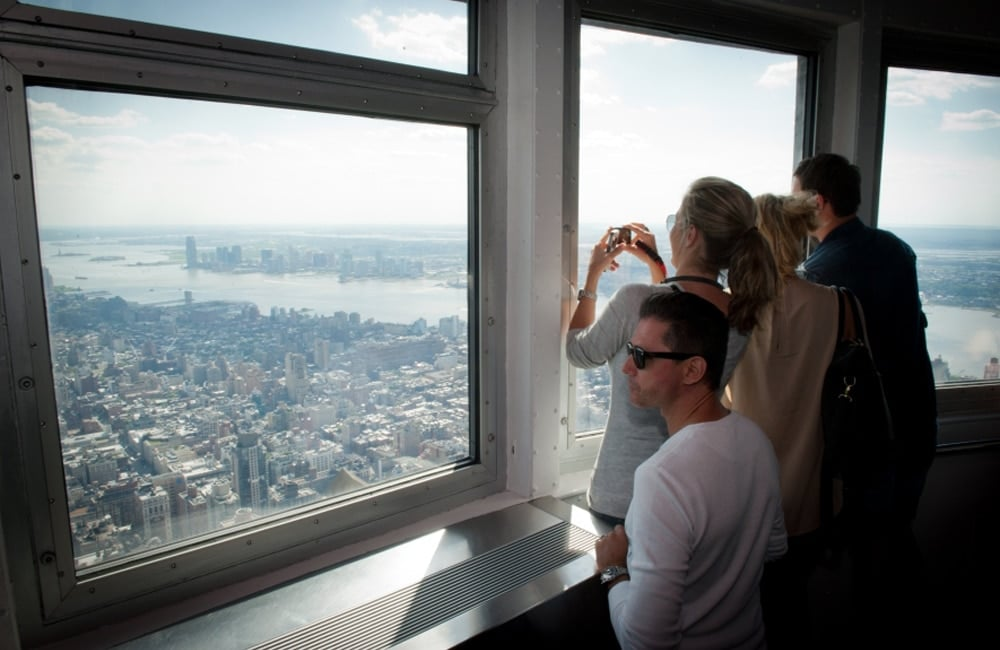The Empire State Building observation deck in New York City, NY.   Photo from ESBNYC.com