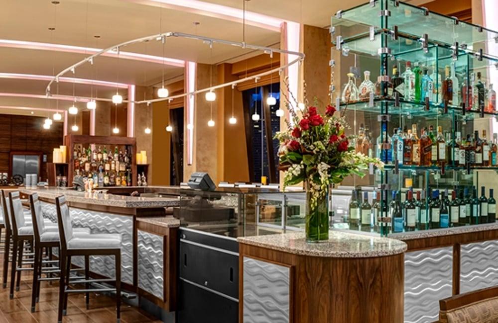 Pinnacle Bar at Hilton Times Square, overlooking the Times Square. | Photo from Hilton Times Square