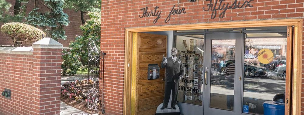 The entrance to the Louis Armstrong House.