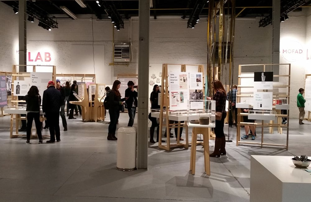 Guests pursue the Flavor: Making It and Faking It exhibit in the MOFAD Lab. | Photo from Museum of Food and Drink