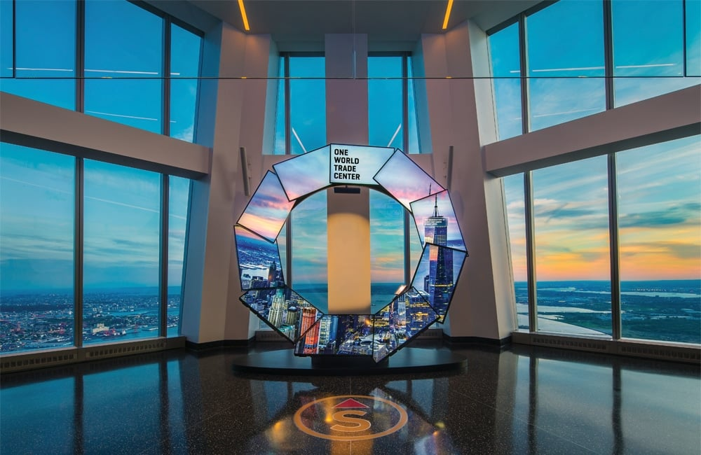 One World Observatory - Observation Deck in New York City, NY.   Photo from One World Observatory