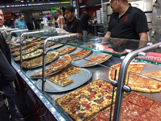 Rose's Pizza and Pasta in Penn Station, New York City, NY.