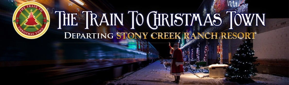 Live the story, The Train to Christmas Town with Saratoga & North Creek Railway and Stony Creek Ranch. | Photo from SNCRR