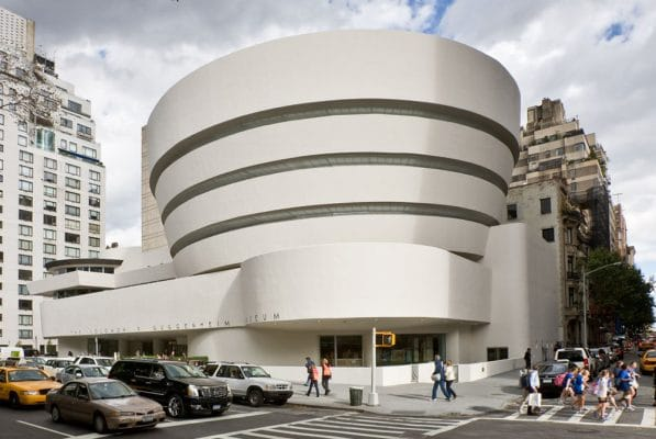 The Solomon R. Guggenheim Museum, an architectural marvel.