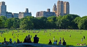 New Yorkers are constantly enjoying the scenic views Central Park has to offer.