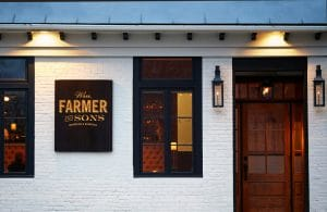 The entrance to barroom and boarding in Hudson, NY. | Photo from Wm. Farmer and Sons
