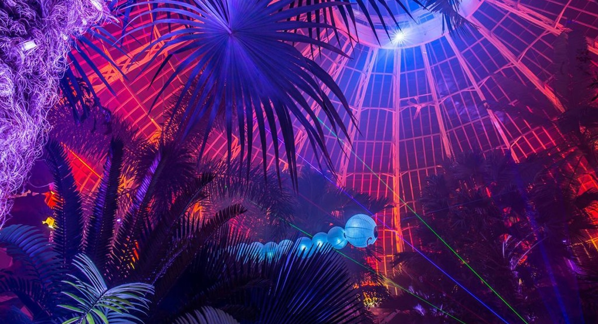 State-of-the-art special effects transform the Buffalo Botanical Gardens into Lumagination 2018. | Photo from Buffalo Botanical Gardens, by Joe Diebold