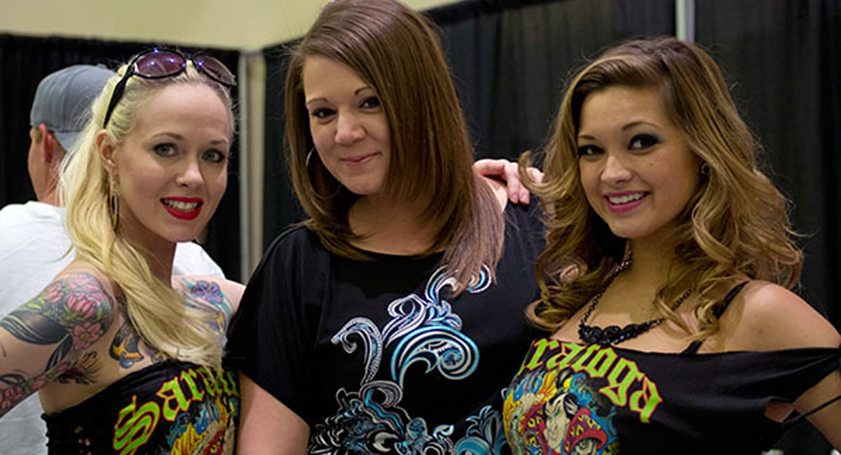 Visitors Showing Off Their Ink at the Saratoga Tattoo Expo. | Photo by Christine Neely