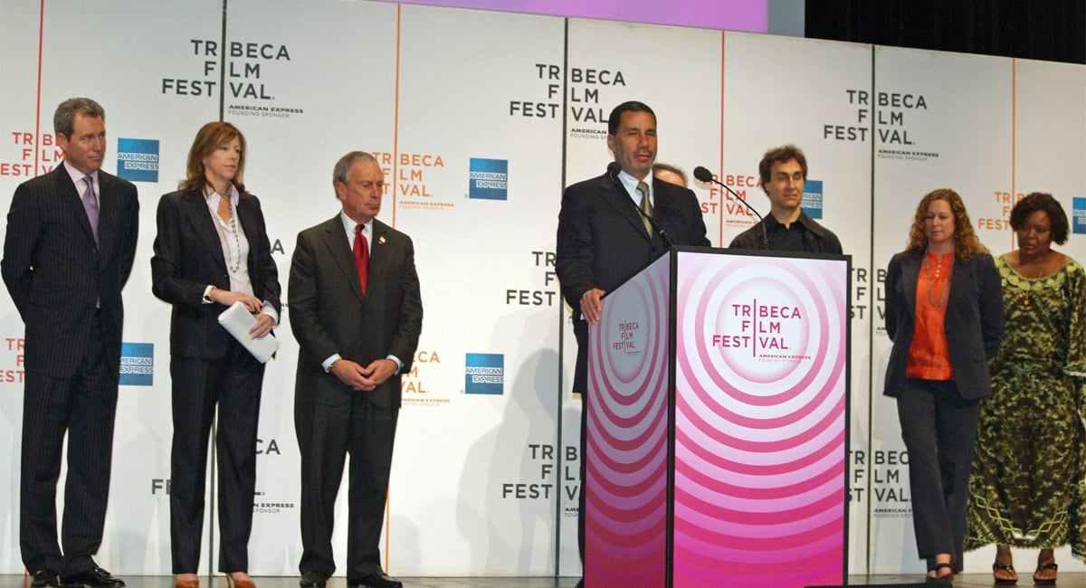 The Opening Ceremony of the 2008 Tribeca Film Festival.   Photo from Wikimedia Commons