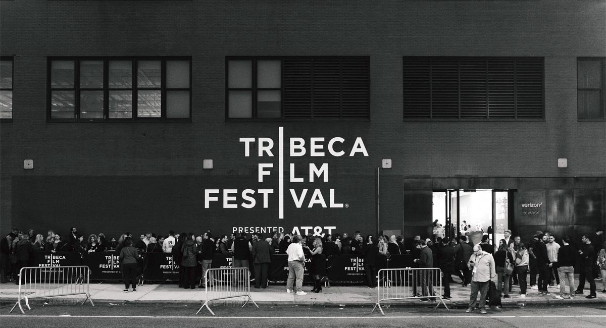 Crowds Outside the Tribeca Film Festival in NYC.   Photo from the Tribeca Film Festival