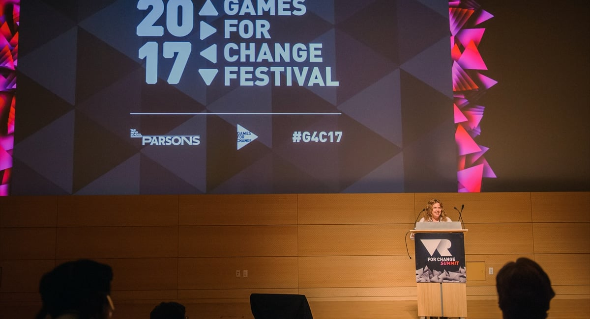 Closing Remarks at the 2017 Games for Change | Photo from Games For Change Flickr