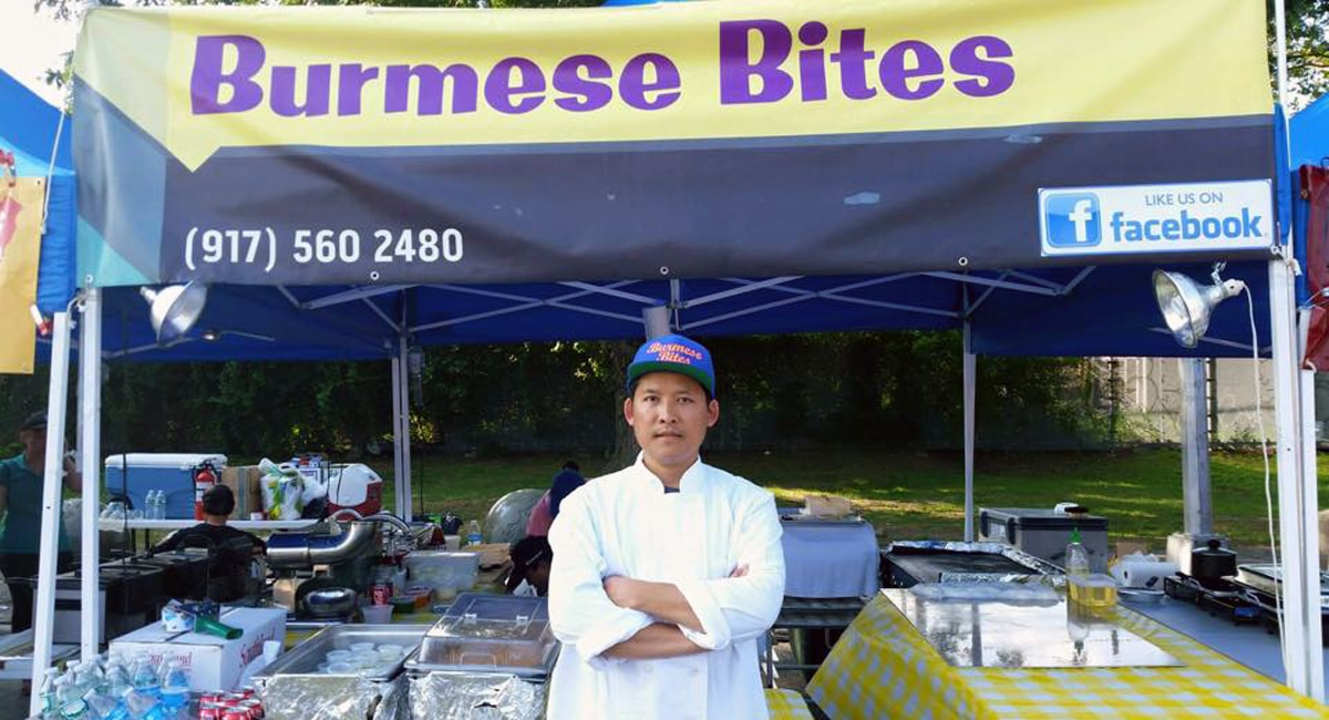Authentic Burmese Food at the Queens International Night Market   Photo from Burmese Bites Facebook