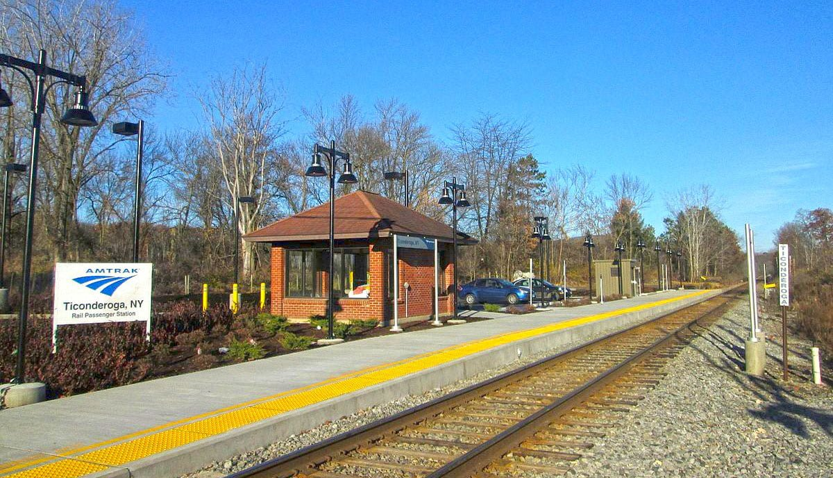 Amtrak Ticonderoga Station | FTC | New York by Rail