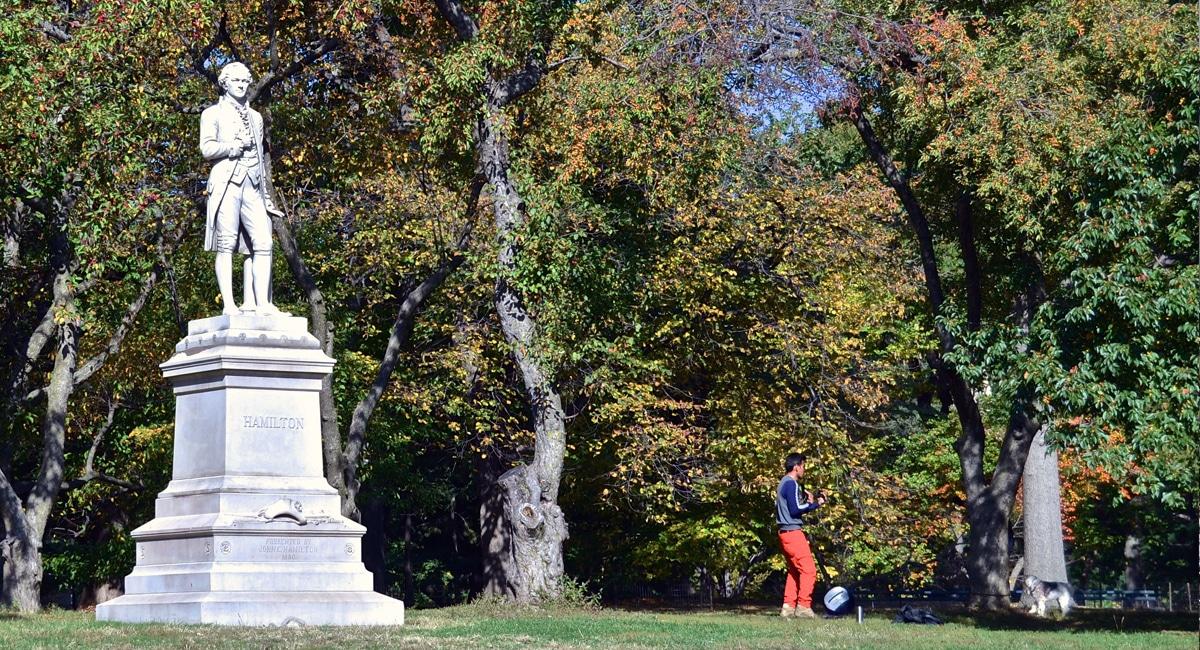 Alexander Hamilton in Central Park - David McSpadden