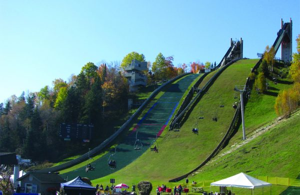 The hill visitors can speed down at the Olympic Jumping Complex. | Photo from Wikimedia Commons