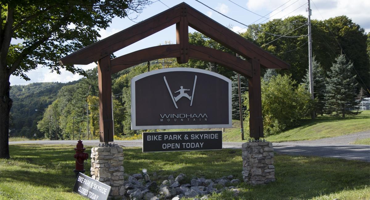 Windham Mountain Bike Entrance Sign | Allyson Macci