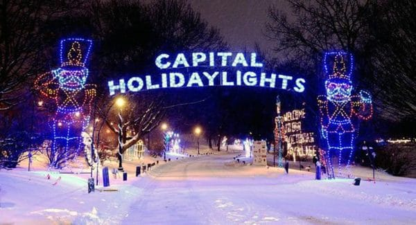 The beginning of the huge holiday lights display in Washington Park. | Courtesy of EntertainmentCalendar.com
