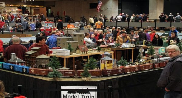 Spectators gather in time for the holiday season to see hundreds of train models. | Courtesy of the Great Train Extravaganza