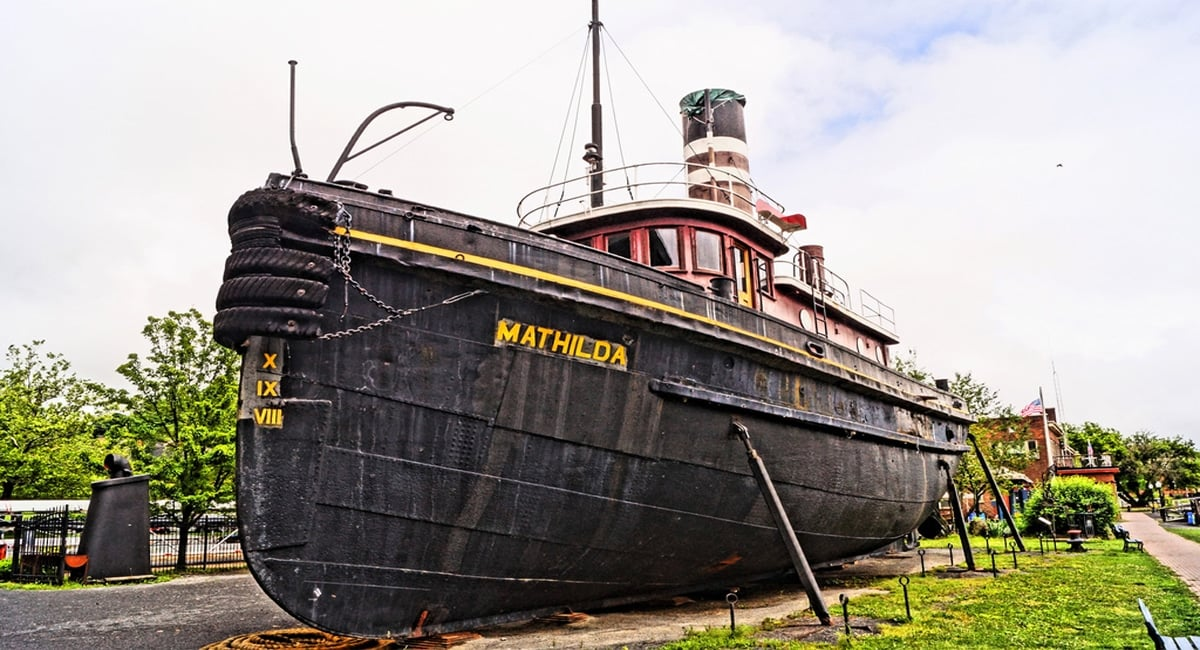 Kingston NY | Mathilda Tugboat at the Hudson River Maritime Museum | Photo by Tim Hetrick