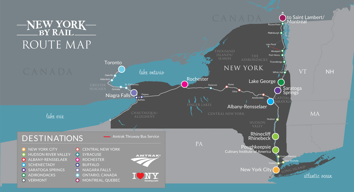 All-Inclusive Amtrak Travel Packages - New York By Rail