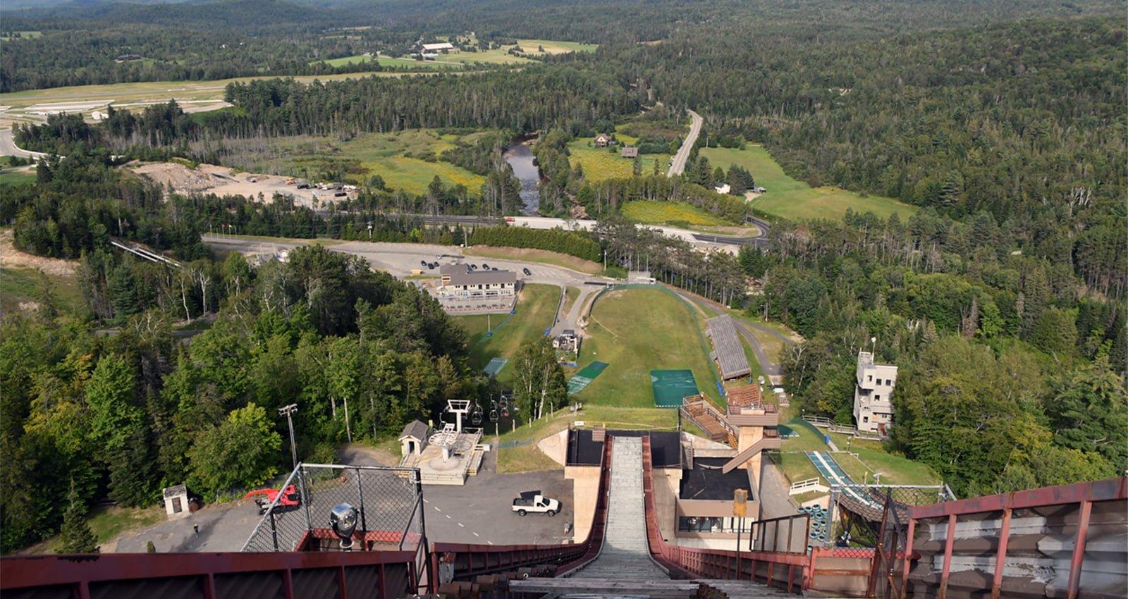 Lake Placid Olympic Ski Jumps |Stand atop the Olympic ski jumps at Lake Placid and dare to look down. | Photo Courtesy of Lisa Ballard