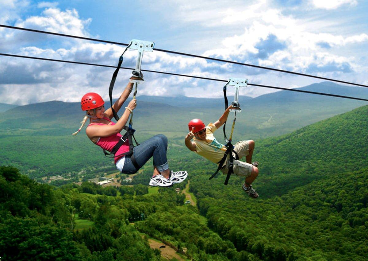 New York Zipline Adventure Tours | Hunter, NY | Photo Courtesy of Andrew Frey | Mountain Views and Cascading Streams