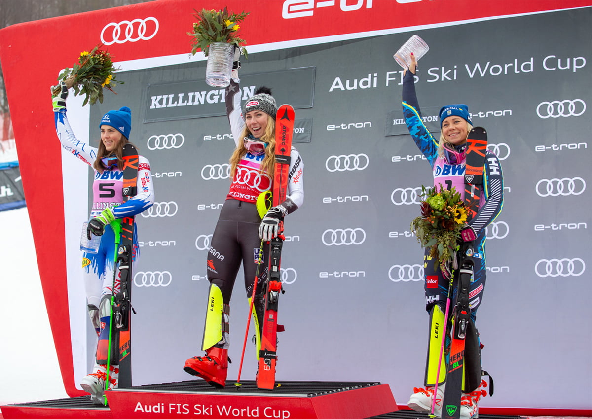 The 2018 Slalom Winners at the Killington World Cup. | Photo Courtesy of David Young