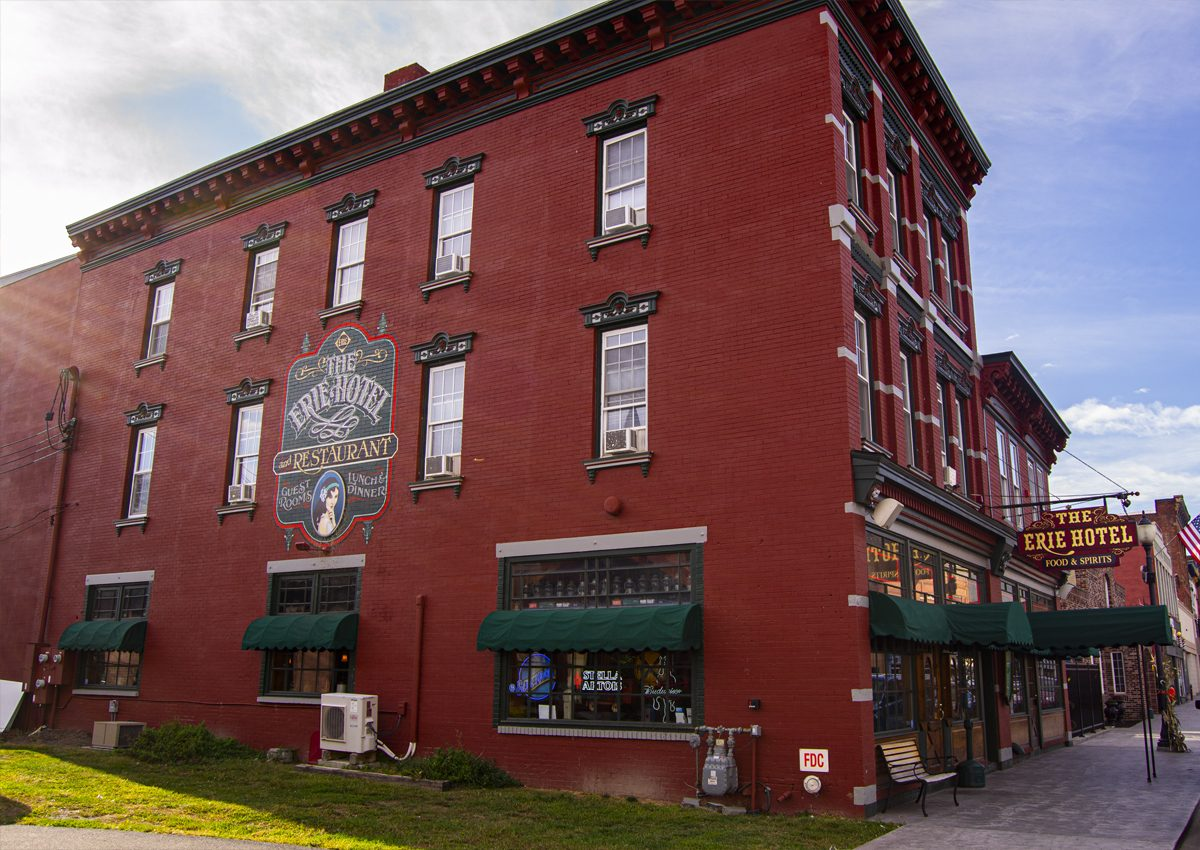 The Erie Hotel and Restaurant in Port Jervis, NY.   Photography Courtesy of Andrew Frey