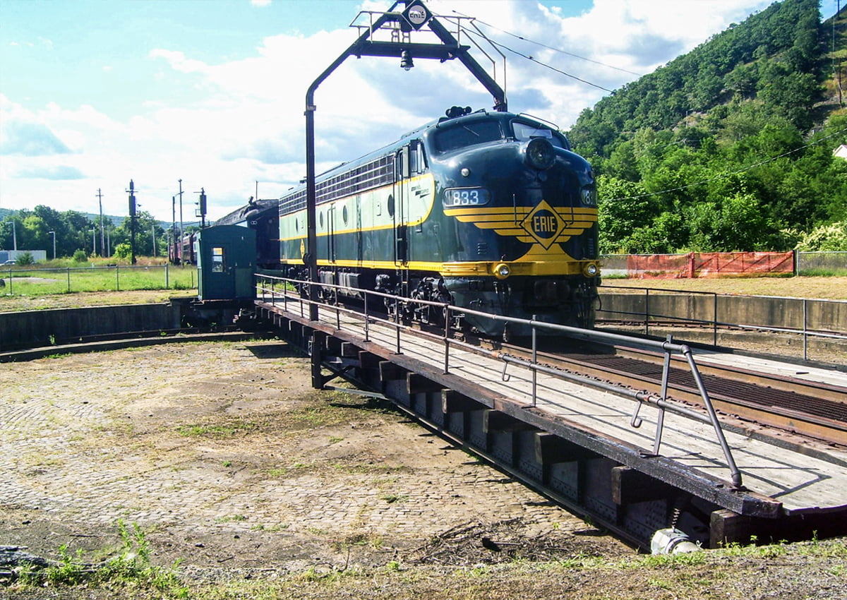 Erie Railroad Roundhouse Turntable in Port Jervis, NY | Photography Courtesy of Beyond My Ken