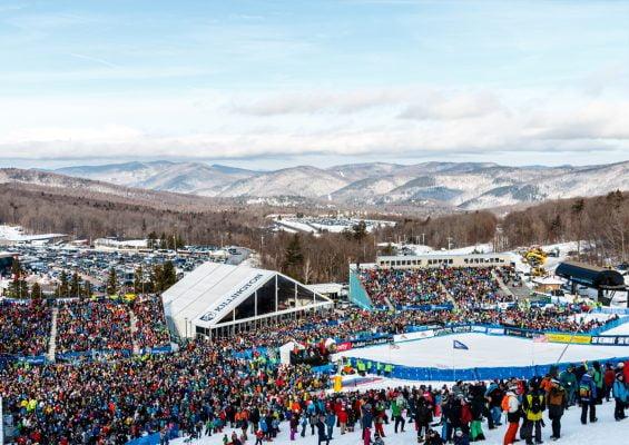 The crowd at the base of the slalom at the Killington World Cup. | Photo Courtesy of John Everett