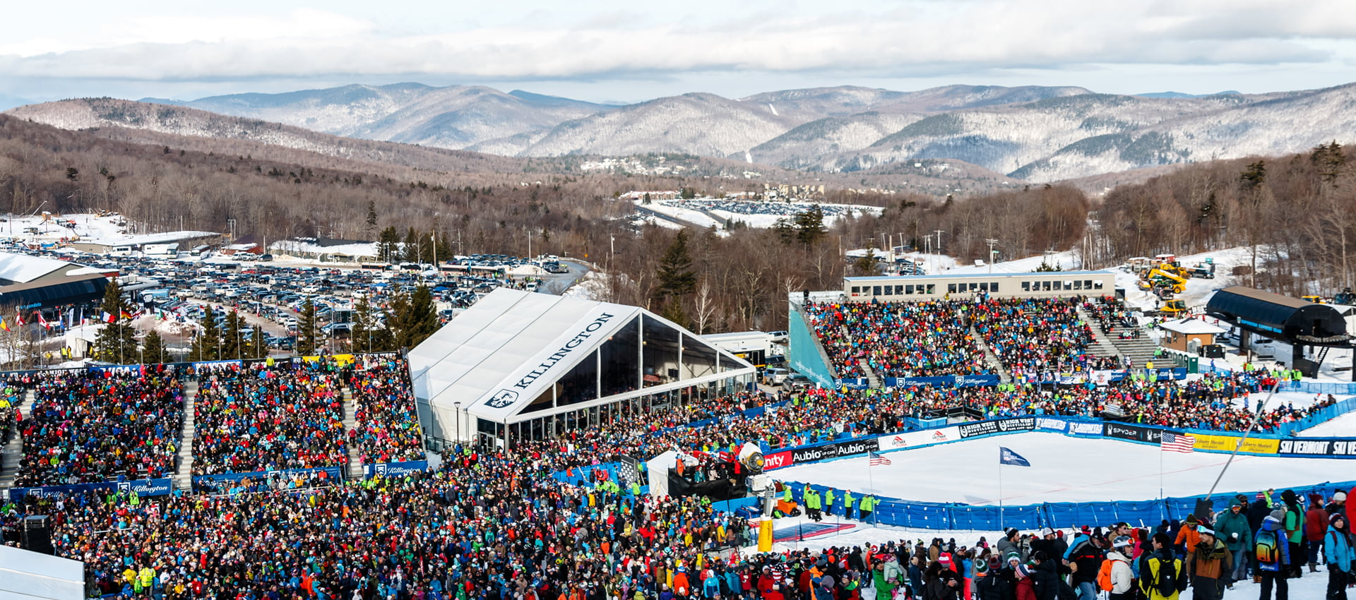 The crowd at the base of the slalom at the Killington World Cup. | Photo Courtesy of John Everett