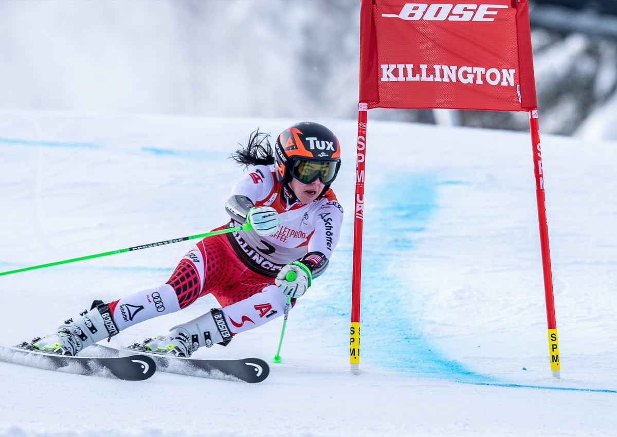 Stephanie Brunner's 2018 Giant Slalom at the Killington World Cup. | Photo Courtesy David Young